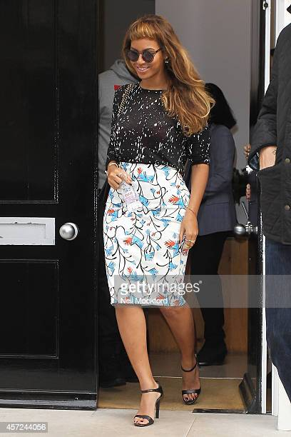 Beyonce Knowles seen leaving a gallery on October 15 2014 in London England