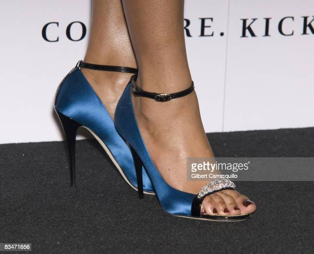 Beyonce Knowles shoe detail at the new House of Dereon collection inspired Cadillac Records at Bloomingdale's on 59th Street on October 28 2008 in...