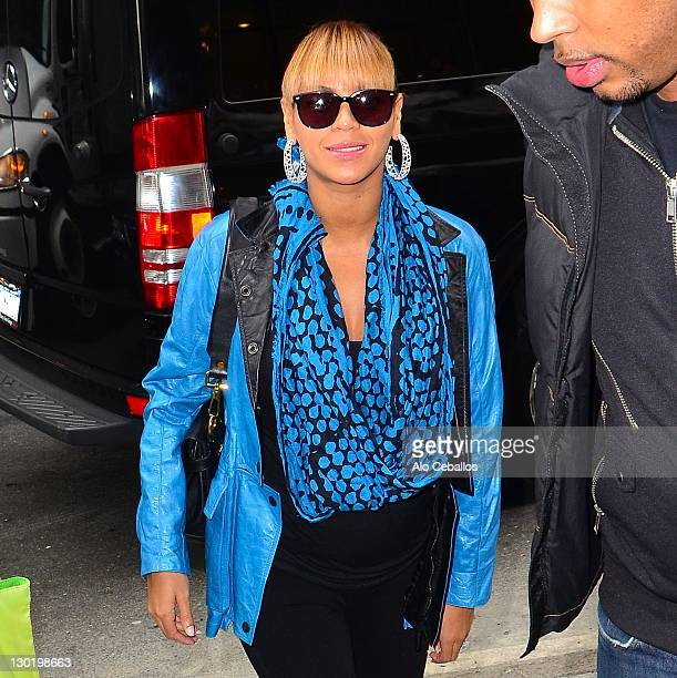 Beyonce Knowles sighting on October 24 2011 in New York City