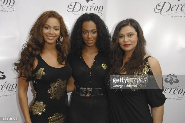 Beyonce Knowles Solange Knowles and Tina Knowles attend the Ultra Supper Club in Toronto for the Canadian launch of their junior apparel collection...