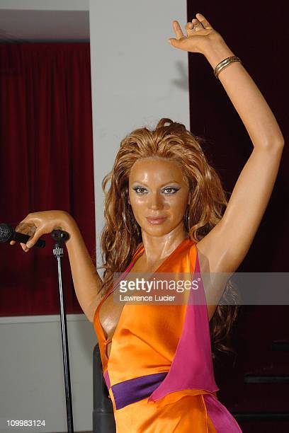 Beyonce Knowles' wax figure during Celebrity Wax Figures at Madame Tussauds at Madame Tussaud's Wax Museum in New York NY United States
