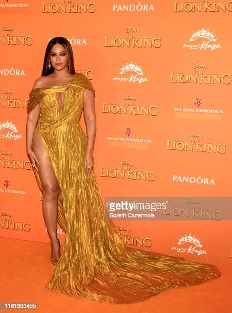 Beyonce KnowlesCarter attends the European Premiere of Disney's The Lion King at Odeon Luxe Leicester Square on July 14 2019 in London England