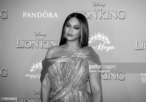 "Beyonce Knowles-Carter attends the European Premiere of Disney's ""The Lion King"" at Odeon Luxe Leicester Square on July 14, 2019 in London, England."