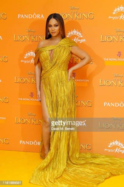 Beyonce KnowlesCarter attends the European Premiere of The Lion King at Odeon Luxe Leicester Square on July 14 2019 in London England