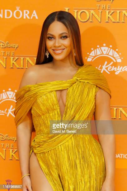 "Beyonce Knowles-Carter attends the European Premiere of ""The Lion King"" at Odeon Luxe Leicester Square on July 14, 2019 in London, England."