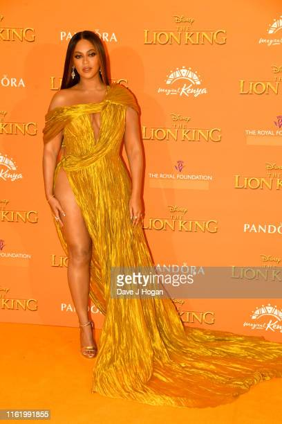 Beyonce KnowlesCarter attends The Lion King European Premiere at Leicester Square on July 14 2019 in London England