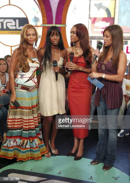 Beyonce KnowlesKelly Rowland Michelle Williams of Destin'ys Child and MTV Vanessa Minnillo