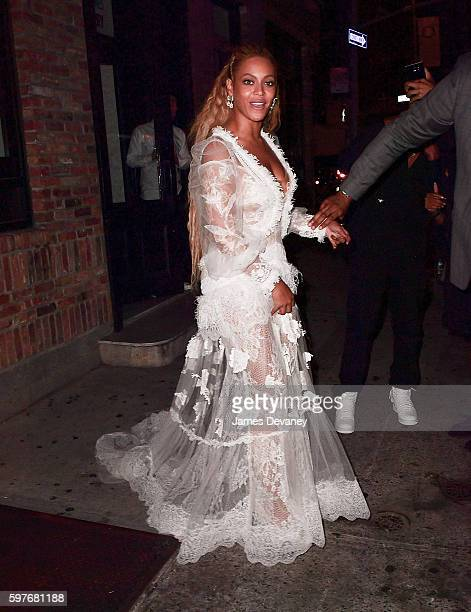 Beyonce leaves her 2016 MTV Video Music Awards After Party at Pasquale Jones on August 28 2016 in New York City
