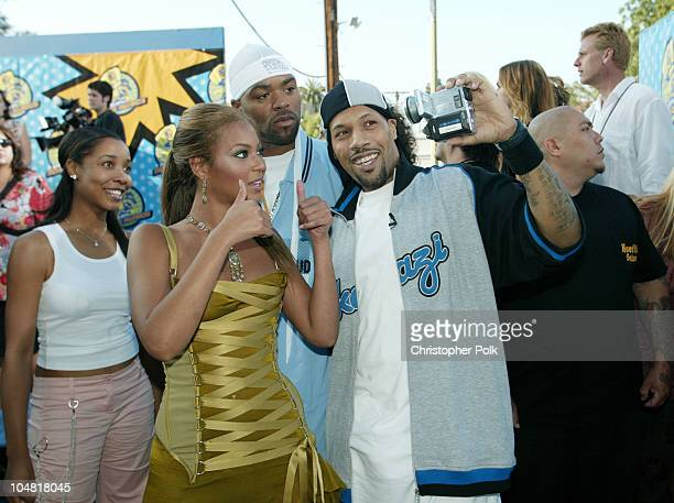 Beyonce Method Man and Red Man during 2003 MTV Movie Awards Arrivals at The Shrine Auditorium in Los Angeles California United States