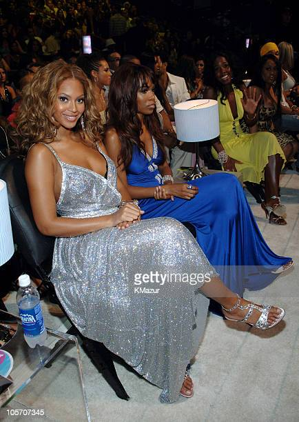 Beyonce Michelle Williams and Kelly Rowland during 2005 MTV Video Music Awards Audience and Backstage at American Airlines Arena in Miami Florida...