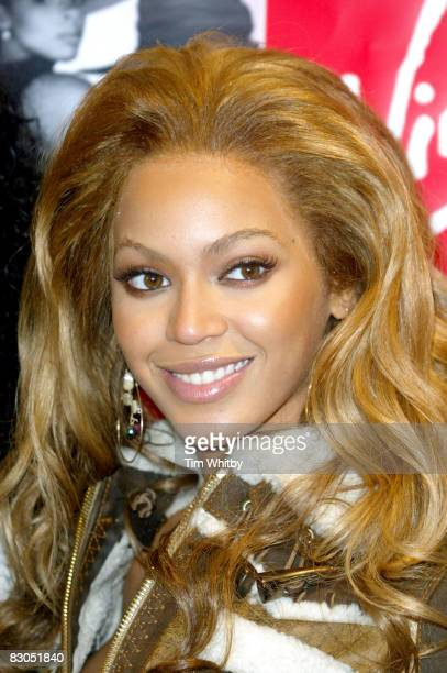 Beyonce of Destiny's Child attending a signing for their new single Lose My Breath at Virgin Megastore in London today