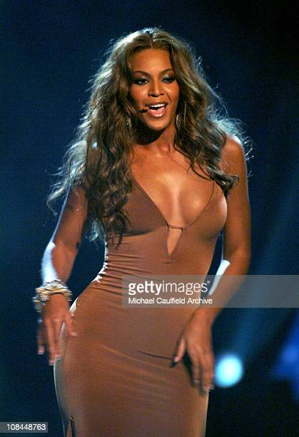 Beyonce of Destiny's Child performs Cater 2 U during 2005 BET Awards Show at Kodak Theatre in Hollywood California United States