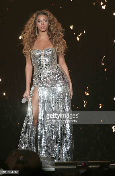 Beyonce performing on stage at Wembley Arena in London on the 3rd June 2007