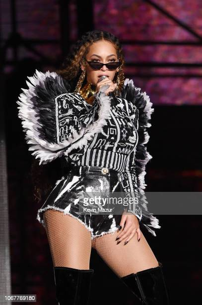 Beyonce performs during the Global Citizen Festival: Mandela 100 at FNB Stadium on December 2, 2018 in Johannesburg, South Africa.