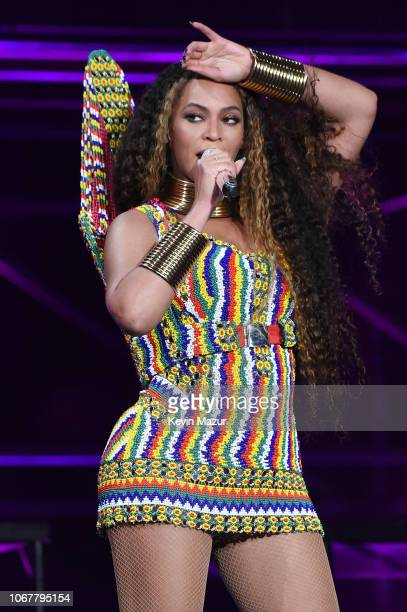 Beyonce performs during the Global Citizen Festival Mandela 100 at FNB Stadium on December 2 2018 in Johannesburg South Africa