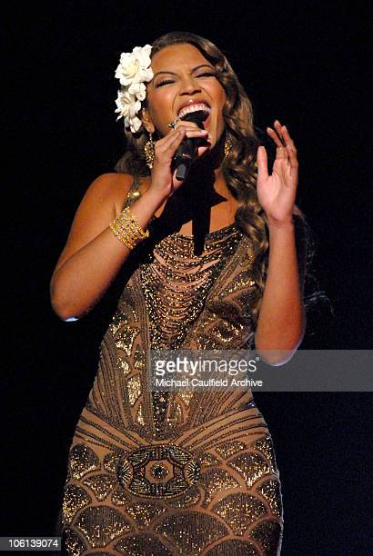 """Beyonce performs """"Listen"""" during The 49th Annual GRAMMY Awards - Show at Staples Center in Los Angeles, California, United States."""