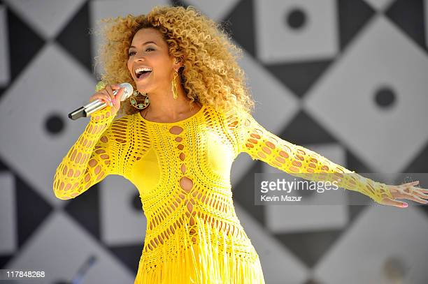 Beyonce performs on ABC's Good Morning America at Rumsey Playfield Central Park on July 1 2011 in New York City