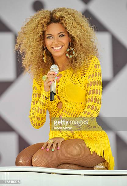 "Beyonce performs on ABC's ""Good Morning America"" at Rumsey Playfield, Central Park on July 1, 2011 in New York City."