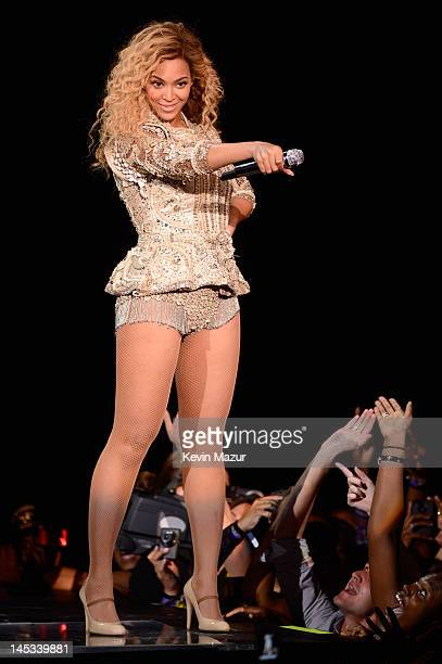Beyonce performs on stage at Ovation Hall at Revel on May 26 2012 in Atlantic City New Jersey