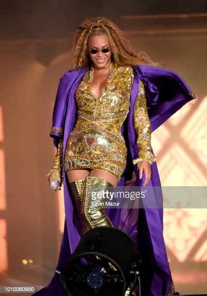 Beyonce performs on stage during the 'On the Run II' tour at MetLife Stadium on August 2, 2018 in East Rutherford, New Jersey.