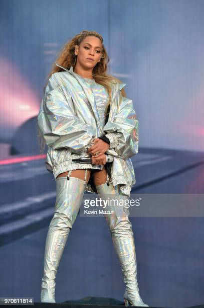 Beyonce performs on stage during the On the Run II Tour with JayZ at Hampden Park on June 9 2018 in Glasgow Scotland