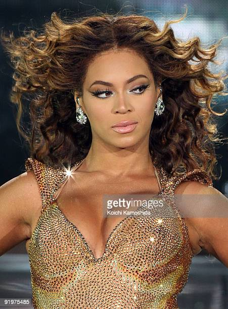 Beyonce performs onstage at Saitama Super Arena on October 18 2009 in Saitama Japan