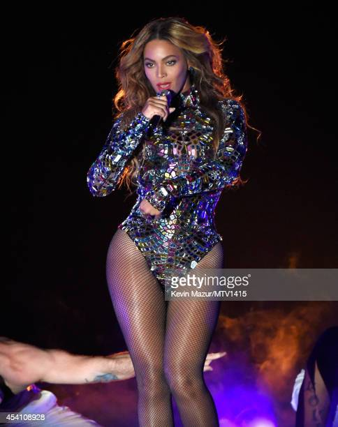 Beyonce performs onstage during the 2014 MTV Video Music Awards at The Forum on August 24 2014 in Inglewood California