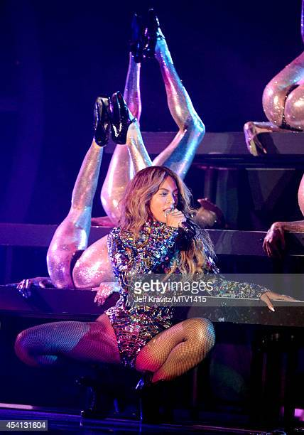 Beyonce performs onstage during the 2014 MTV Video Music Awards held at The Forum on August 24 2014 in Inglewood California