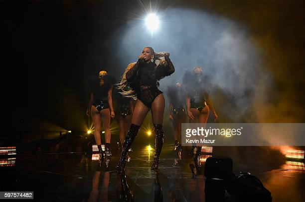 Beyonce performs onstage during the 2016 MTV Video Music Awards at Madison Square Garden on August 28, 2016 in New York City.