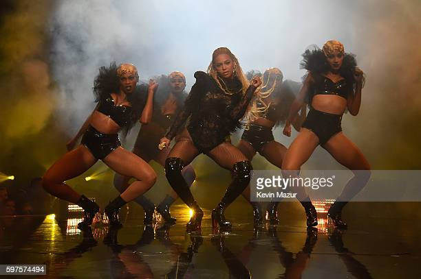 Beyonce performs onstage during the 2016 MTV Video Music Awards at Madison Square Garden on August 28 2016 in New York City