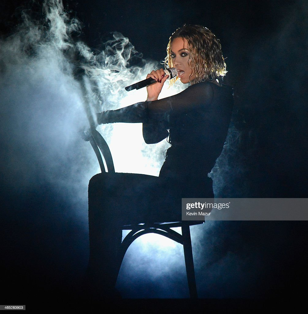 Beyonce performs onstage during the 56th GRAMMY Awards at Staples Center on January 26, 2014 in Los Angeles, California.