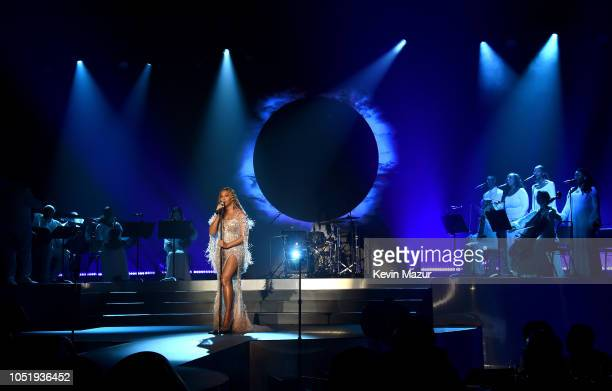 Beyonce performs onstage during the City of Hope Spirit of Life Gala 2018 at Barker Hangar on October 11 2018 in Santa Monica California
