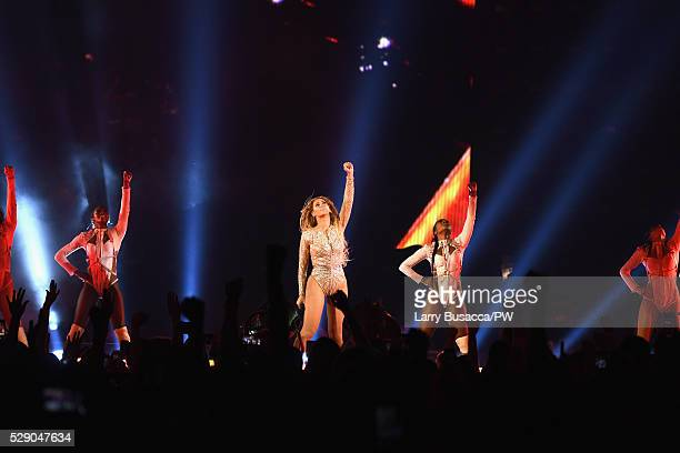 Beyonce performs onstage during 'The Formation World Tour' at NRG Stadium on May 7, 2016 in Houston, Texas. Beyonce wears a custom Charbel Zoe...