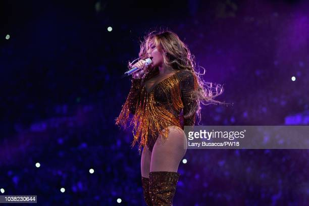 Beyonce performs onstage during the 'On The Run II' Tour at Rose Bowl on September 22 2018 in Pasadena California