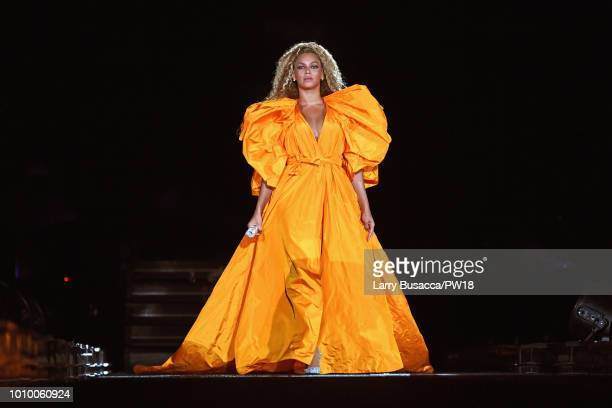 Beyonce performs onstage during the 'On The Run II' Tour New Jersey at MetLife Stadium on August 2 2018 in East Rutherford New Jersey