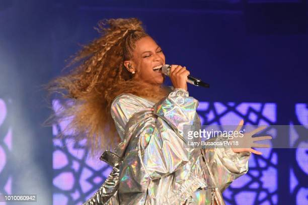 Beyonce performs onstage during the On The Run II Tour New Jersey at MetLife Stadium on August 2 2018 in East Rutherford New Jersey