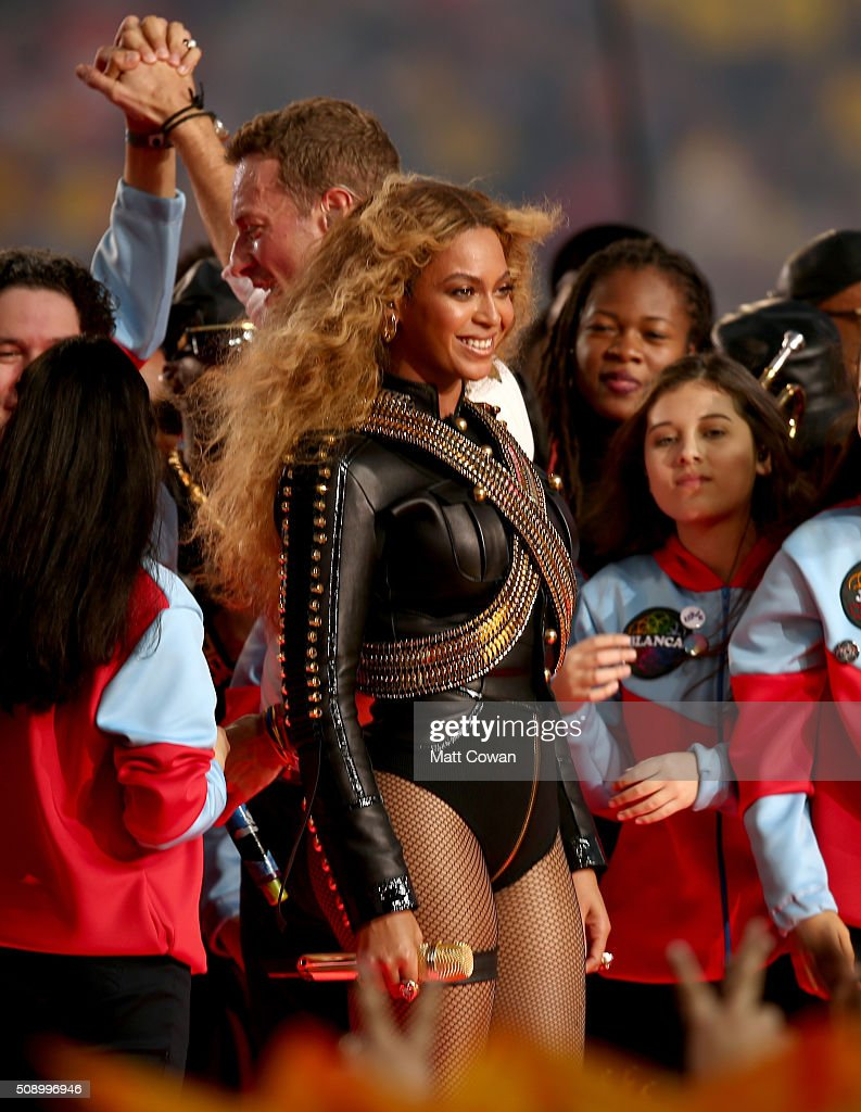 Beyonce performs onstage during the Pepsi Super Bowl 50 Halftime Show at Levi's Stadium on February 7, 2016 in Santa Clara, California.