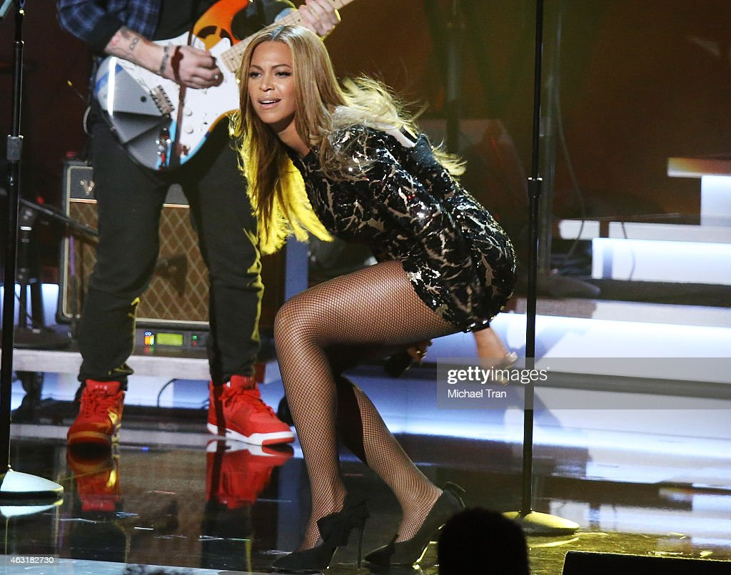 Beyonce performs onstage during the Stevie Wonder: Songs In The Key Of Life - An All-Star GRAMMY Salute held at Nokia Theatre L.A. Live on February 10, 2015 in Los Angeles, California.
