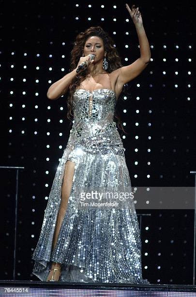 Beyonce performs part of 'The Beyonce Experience Tour' at the Oracle Arena on August 31 2007 in Oakland California
