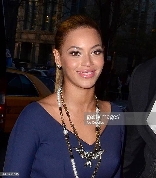 Beyonce sighting on March 19 2012 in New York City