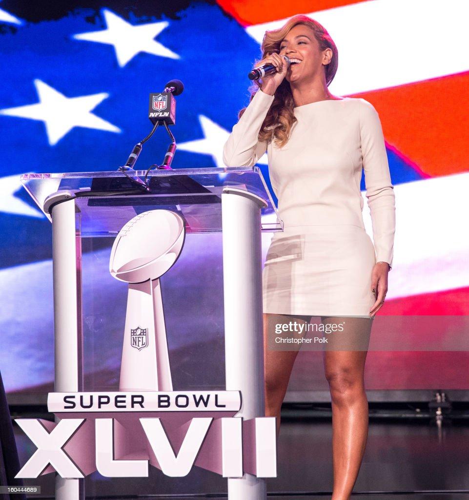 Pepsi Super Bowl XLVII Halftime Show Press Conference : Foto jornalística
