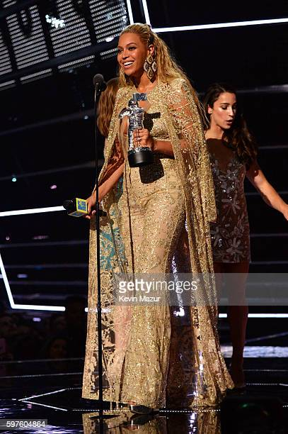 Beyonce speaks onstage during the 2016 MTV Video Music Awards at Madison Square Garden on August 28 2016 in New York City