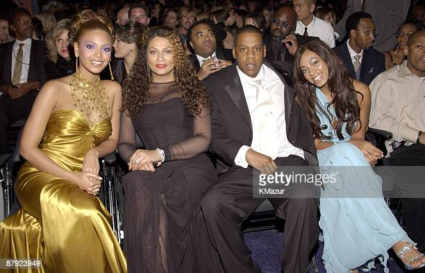 Beyonce Tina Knowles and JayZ