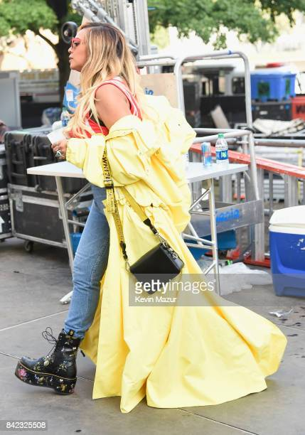 Beyonce walks backstage during the 2017 Budweiser Made in America festival Day 2 at Benjamin Franklin Parkway on September 3 2017 in Philadelphia...