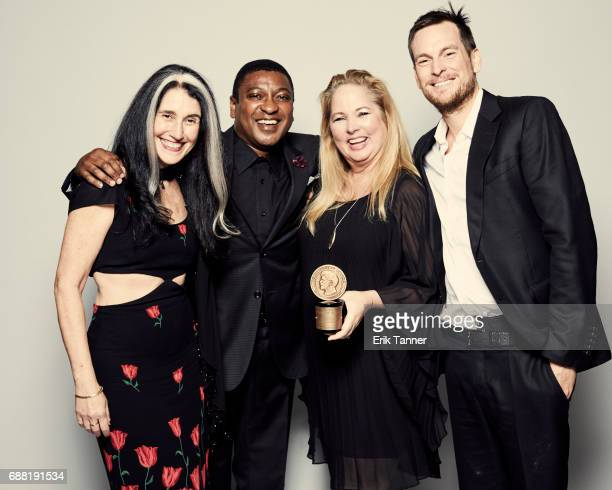 'Beyonce's Lemonade' team Teresa LaBarbera Whites Steve Pamon Erinn Williams are photographed at the 76th Annual Peabody Awards at Cipriani Wall...