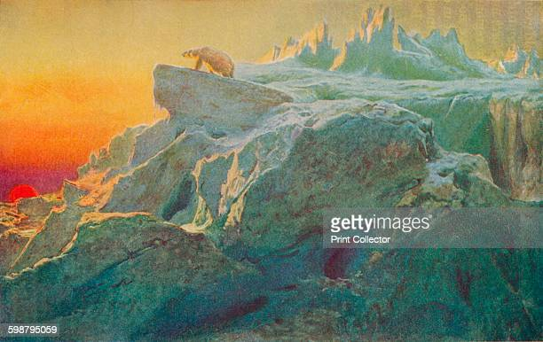 Beyond Mans Footsteps circa 1894 Painting held at the Tate Britain From The Book of Polar Exploration by E L Elias MA [George G Harrap Company Ltd...