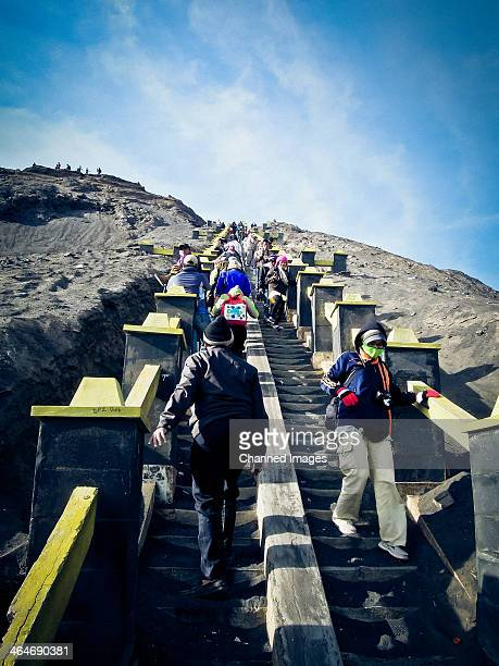 CONTENT] Beyond the Hindu temple within the lower slopes of Mt Bromo is the stairs of 250 steps that would bring tourists to the crater The view is...