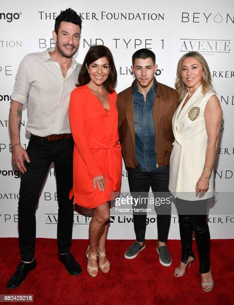 Beyond Type 1 Co-Founders Sam Talbot, Sarah Lucas, Nick Jonas and Juliet De Baubigny attend Beyond LA Cocktail Party Benefiting Beyond Type 1 at The...