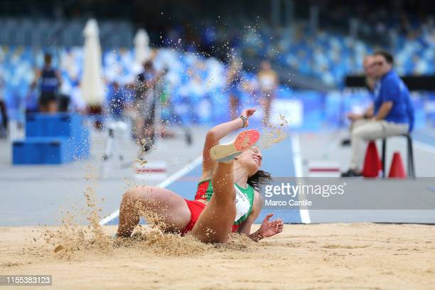 Beyza Oliveira, of Portugal, during the final stages of athletics, for the 2019 Universiade, in the specialty of Triple Jump, at San Paolo stadium in...