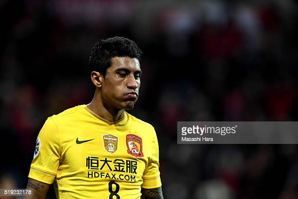 Bezerra Maciel Junior of Guangzhou Evergrande looks on after the AFC Champions League Group H match between Urawa Red Diamonds and Guangzhou...